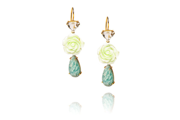 Riverine Earrings in Green