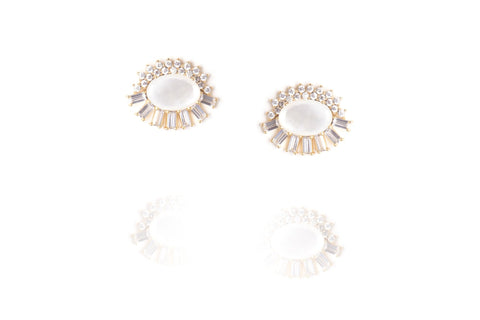 Opaline Earrings in White