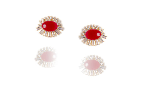 Opaline Earrings in Red