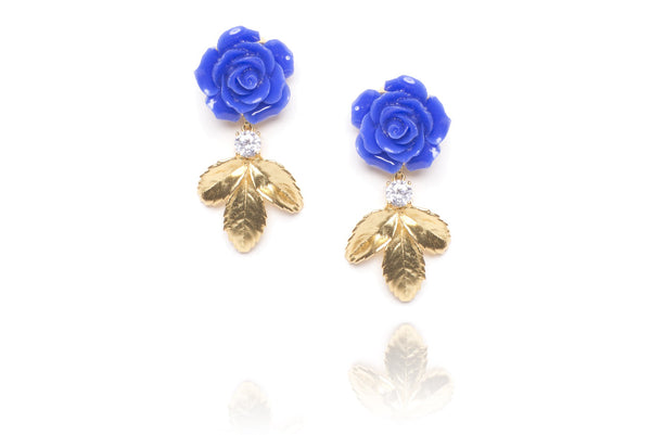 Flower Child Earrings in Blue