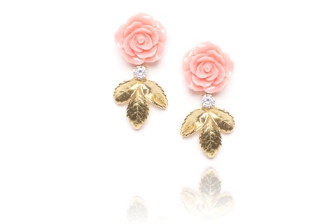 Flower Child Earrings in Peach