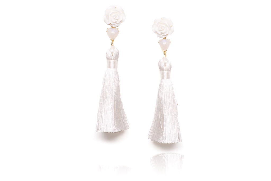 Gossamer Earrings in White