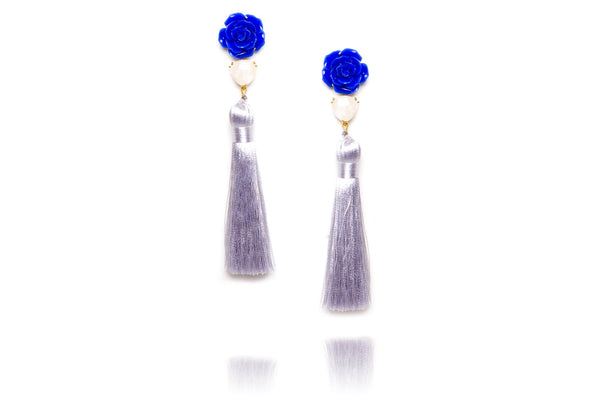 Gossamer Earrings in Blue