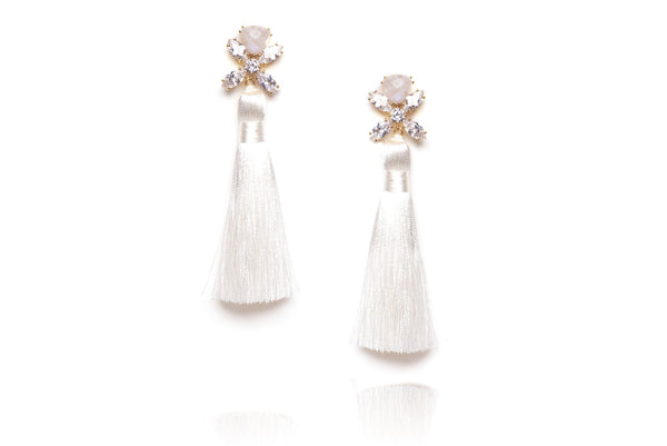 Ritzy Earrings in White