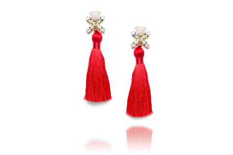Ritzy Earrings in Red