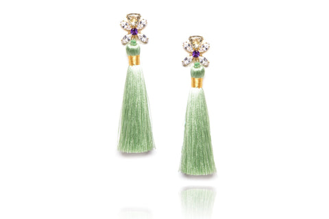 Ritzy Earrings in Green