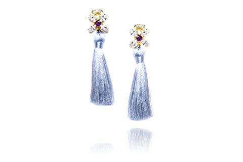 Ritzy Earrings in Blue