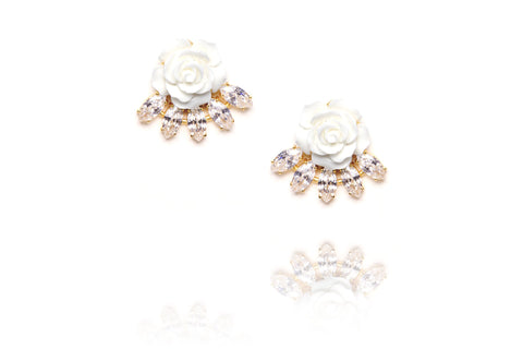 Floret Studs in White