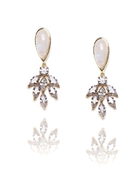 Sandra Earrings in White