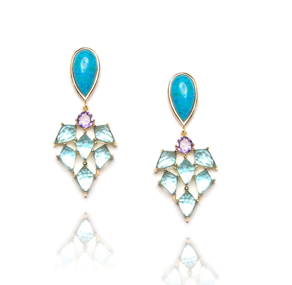 Sandra Earrings in Blue