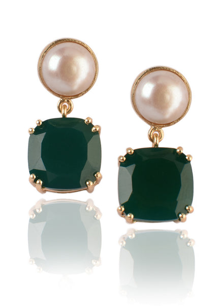 Twilight Earrings in Green