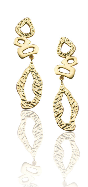 Lattice Earrings in Gold