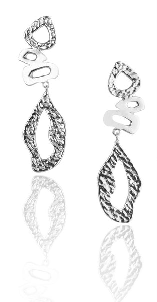 Lattice Earrings in Silver