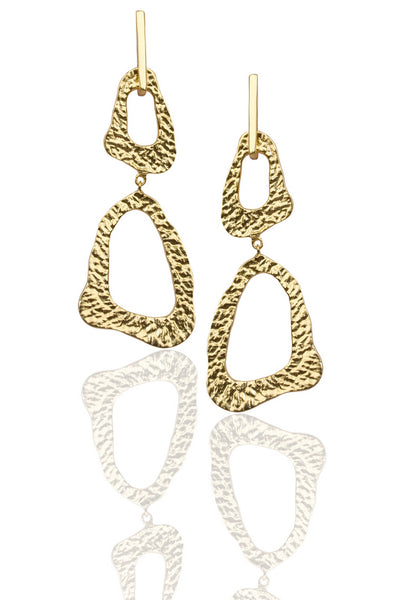Lace Earrings in Gold