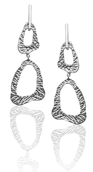 Lace Earrings in Silver