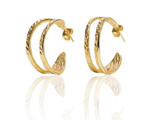 Crescent Earrings in Gold