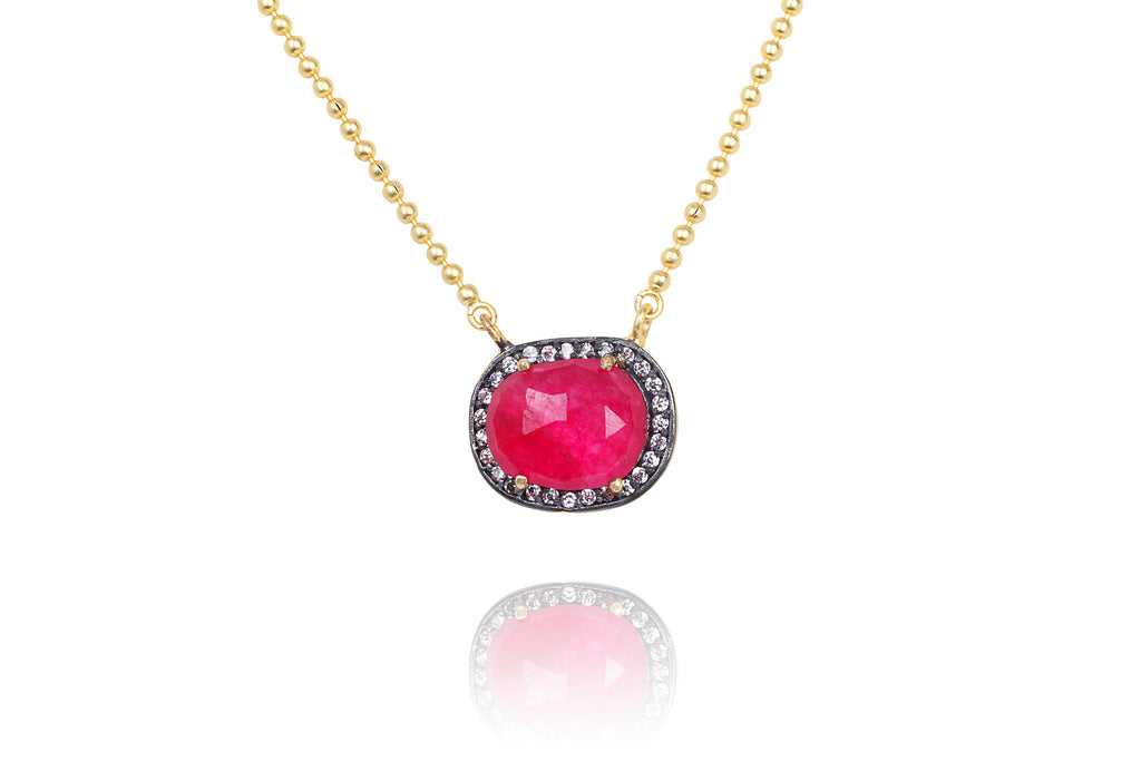 Zeenia Necklace in Red