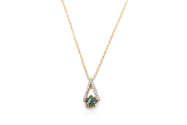Pyramid Necklace in Green