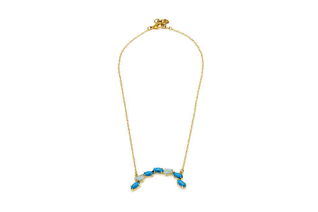 Meeza Necklace in Blue