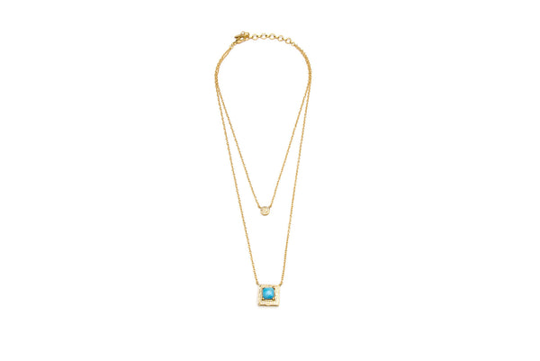 Fiesta Necklace in Turquoise