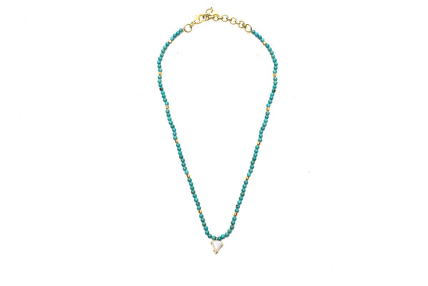 Izzy Necklace on Turquoise Beads