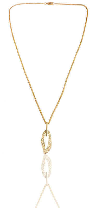 Lattice Necklace in Gold
