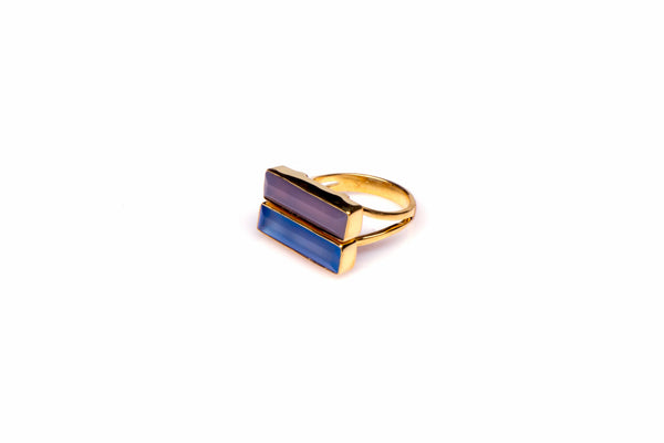 City Slicker Ring in Blue