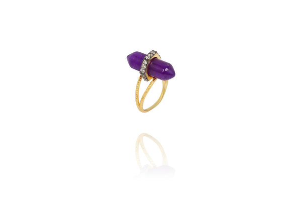 Tiara Ring in Purple