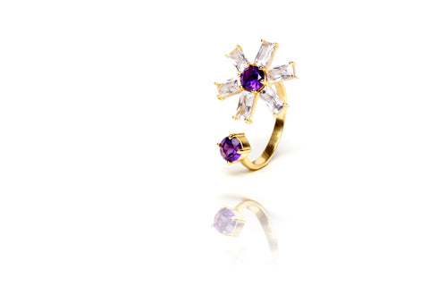 Glitz Ring in Purple