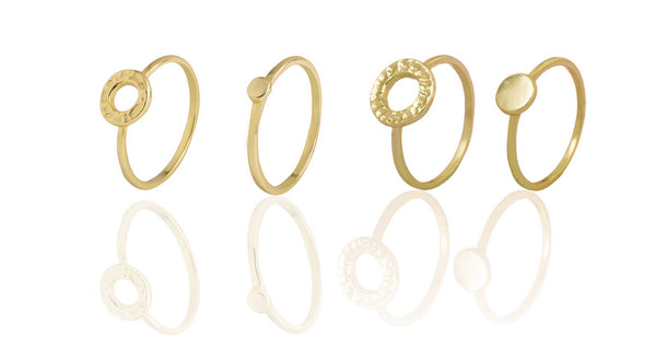 Juno Ring Set in Gold