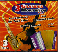 3 Grandes Nortenos (3CDs volumen 1) DMY-3012