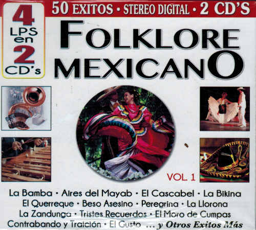Folklore Mexicano (4LPS en 2CDs, 50 exitos, Vol. 1) Cro2c-41164
