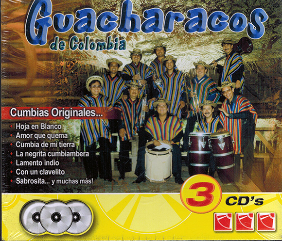 Guacharacos De Colombia (Cumbias originales 3CDs) IM-2730