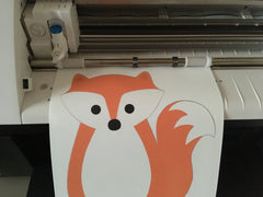 making our fox wall decal