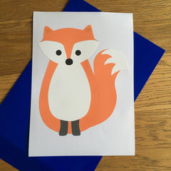 red fox wall sticker