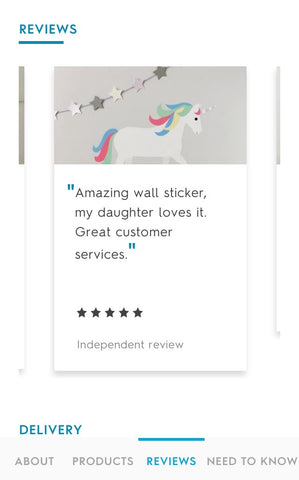 unicorn wall sticker review