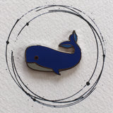 blue whale pin badge, blue whale enamel pin, blue whale pin, whale gift, whale gift idea for kids, under the sea enamel pin, under the sea badge