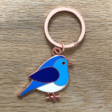 bluebird keyring, bird keyring, thinking of you gift, lockdown gift, letterbox gift keyring