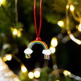 rainbow christmas tree decoration, rainbow xmas tree decoration, rainbow bauble, rainbow decoration for tree, rainbow hanging decoration, 2020 christmas tree decoration
