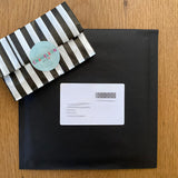 chameleon and co, chameleon and co packaging, striped packaging, chameleon and co keyring gift