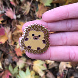 hedgehog pin badge, hedgehog badge, cute hedgehog enamel pin, hedgehog accessory, hedgehog mechandise, hedgehog lapel pin, hedgehog gift