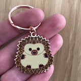 hedgehog keyring, hedgehog key ring, hedgehog keychain, hedgehog keychain, hedgehog enamel keyring, hedgehog gift, gift for hedgehog lover, gift for hedgehog collector, keyring for kids, child's keyring, keyring for book bag, hedgehog accessory, keyring for school bag
