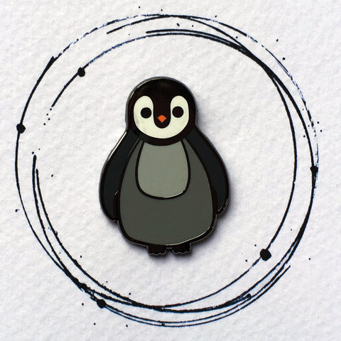 cute penguin pin, cute penguin enamel pin, enamel pin badge, baby penguin pin, penguin stocking filler, penguin gift for kids