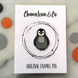 penguin enamel pin, baby penguin pin, baby penguin badge