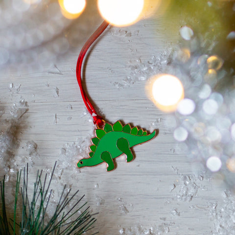dinosaur christmas tree decoration, dinosaur xmas tree decoration, stegosaurus xmas tree decoration, stegosaurus christmas tree decoration, dinosaur christmas bauble, dinosaur bauble, dinosaur hanging decoration, christmas bauble for boy, christmas bauble for dinosaur lover