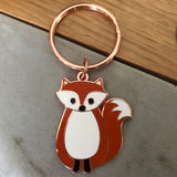 fox keyring, thinking of you gift, lockdown gift, letterbox gift keyring