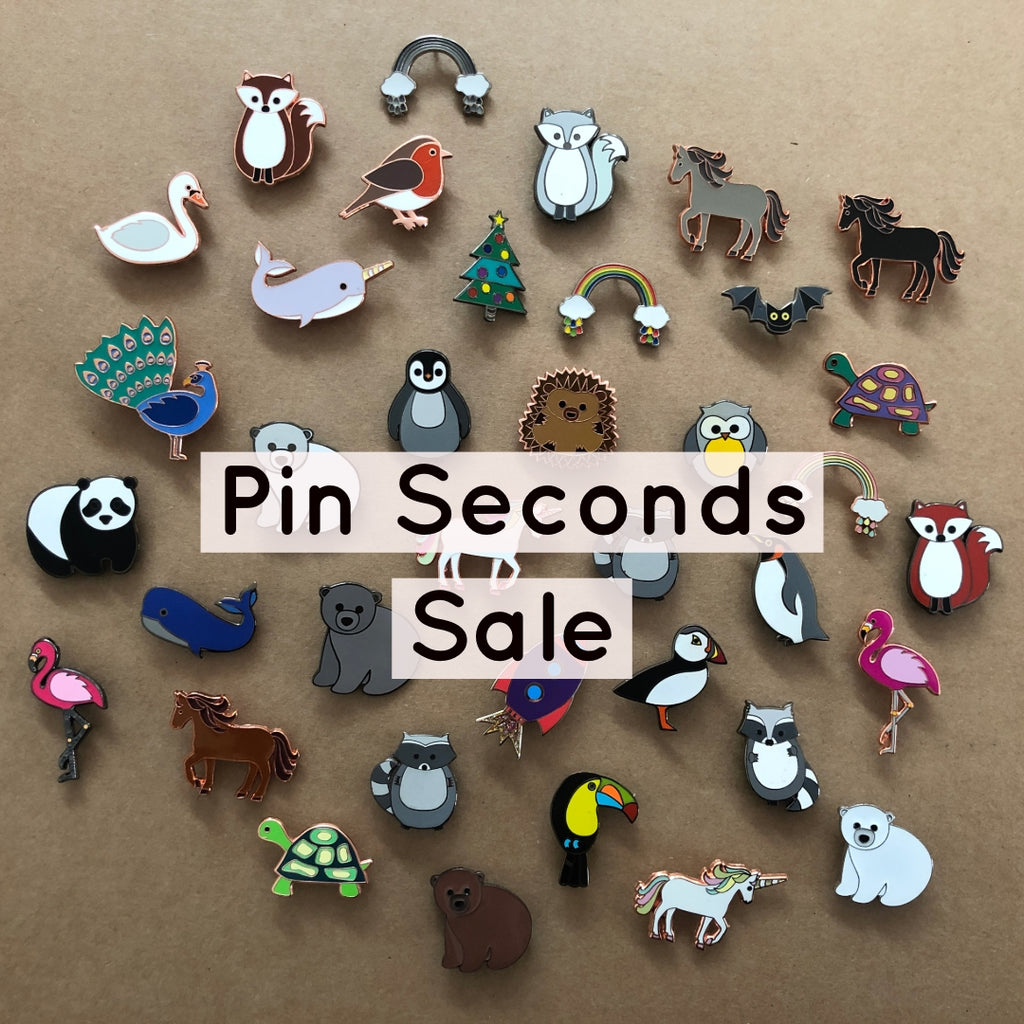 enamel pin seconds sale, b grade enamel pin sale, pin badge seconds, discounted pins, flawed pins, defect pins, bargain pins, b grade pin sale, pin seconds