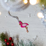 flamingo christmas tree decoration, flamingo xmas tree decoration, flamingo hanging decoration, bird christmas tree decoration, flamingo, unusual christmas tree decorations