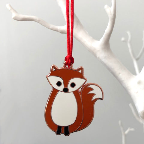 fox christmas decoration, fox xmas decoration, fox tree decoration, christmas tree decoration for kids, fox hanging decoration, fox bauble, fox christmas tree bauble