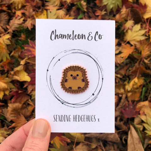 hedgehog pin, hedgehog pin badge, hedgehog enamel pin, cute hedgehog, hedgehog accessory, hedgehog jewellery, gift for hedgehog lover